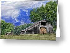 Old Hay Barn Greeting Card