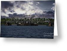 Old Highway 41 Swing Bridge Over The Wando River In Charleston Sc Greeting Card