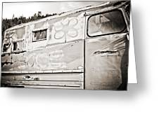 Old Hippie Peace Van Greeting Card