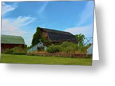 Old Historic Farm  Greeting Card