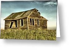 Old Home Falling In Greeting Card