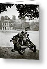 Old Honda In Hanoi Greeting Card
