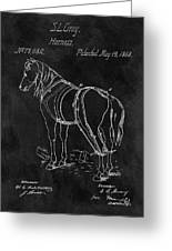 Old Horse Harness Patent  Greeting Card