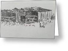Old Horse Shed  Greeting Card