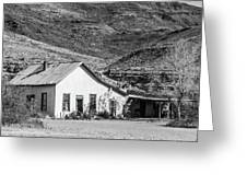 Old House And Foothills Greeting Card