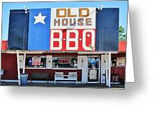 Old House Bbq Greeting Card