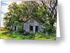 Old House Blues Greeting Card