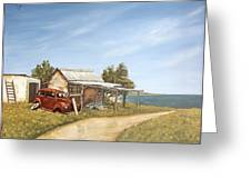 Old House By The Sea Greeting Card