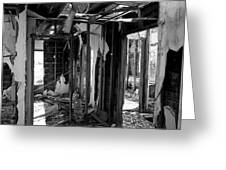 Old House Interior Construction Greeting Card