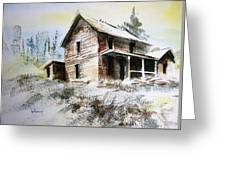 Old House Marysville Ghosttown Montana Greeting Card