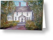 Old House On A Hill Greeting Card