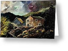 Old Houses 5648 Greeting Card