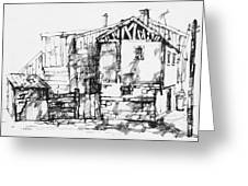 Old Houses Greeting Card