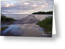 Old Hovland Dock After The Storm Greeting Card