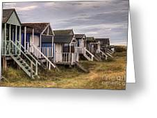 Beach Huts At Old Hunstanton Greeting Card