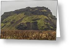 Old Icelandic Island Panorama Greeting Card