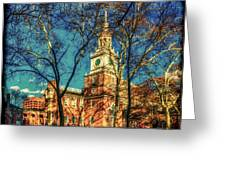 Old Independence Hall Greeting Card