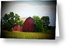 Old Indiana Barn Greeting Card by Joyce Kimble Smith