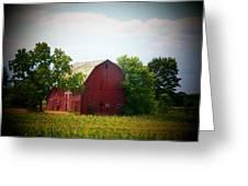 Old Indiana Barn Greeting Card