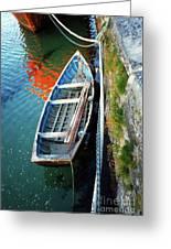 Old Irish Boat Greeting Card