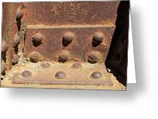 Old Iron Hinges Greeting Card