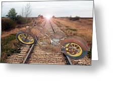 Old Iron Horse Greeting Card