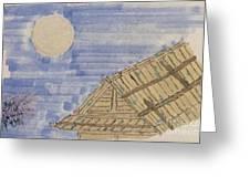 Old Japan At Nightfall Greeting Card