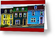 Old Jellybean Row Houses Greeting Card