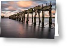 Old Jetty Near Castlerock Greeting Card