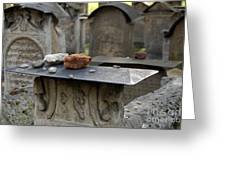 Old Jewish Cemetery Krakow Poland Greeting Card