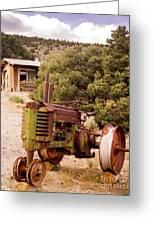 Old John Deer Tractor Greeting Card