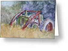 Old John Deere Tractor In The Back 40 Greeting Card