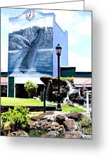 Old Kauai Village Clock Tower Greeting Card