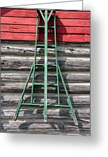 Old Ladder Greeting Card