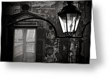 Old Lamp Greeting Card by Dave Bowman