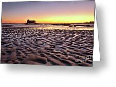 Old Lifesavers Building Covered By Warm Sunset Light Greeting Card