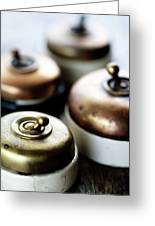 Old Light Switches Greeting Card