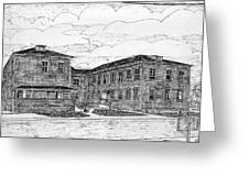 Old Lilly Lab At Mbl Greeting Card