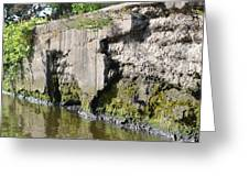 Old Lock And Dam Greeting Card