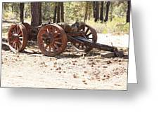 Old Logging Wagon Greeting Card