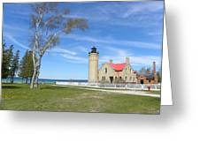 Old Mackinaw Point Light Greeting Card