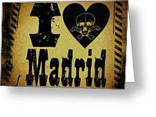 Old Madrid Greeting Card