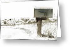 Old Mailbox Greeting Card