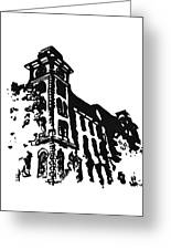 Old Main Building In Fayetteville Ar Greeting Card by Amanda  Sanford