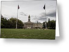 Old Main Penn State Wide Shot  Greeting Card