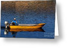 Old Man And His Boat Greeting Card
