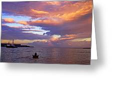Old Man And The Sea- St Lucia Greeting Card