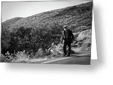 Old Man In Rural Greece Greeting Card
