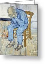 Old Man In Sorrow Greeting Card