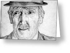 Old Man With Hat Greeting Card